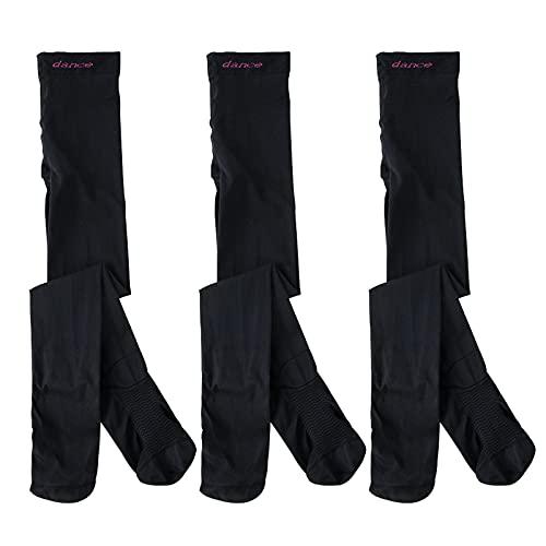 CYGGA 3PC Kinder Strumpfhosen Samt Farbe Schuluniform Socken Mädchen Tanzsocken Strümpfe kein Kratzen und Rutschen, äußerst strapazierfähig Strumpfhose fürs Kinder Ballett