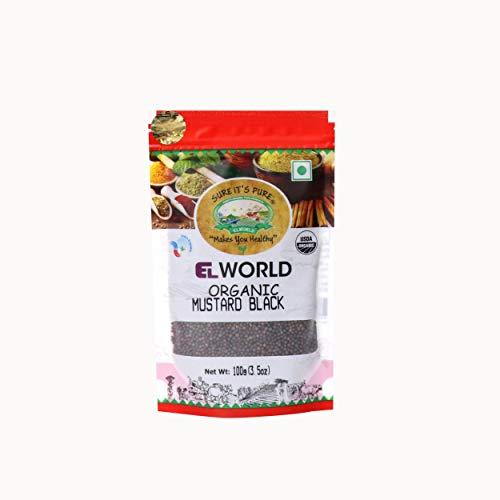 Elworld Organic Mustard Black (Rai Seeds) 100 Gram