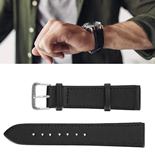 Accesorio de reloj, correa de reloj de material suave de gran durabilidad Cómoda para relojeros para el hogar Trabajadores de reparación de relojes para taller de reparación de relojes(20mm black)