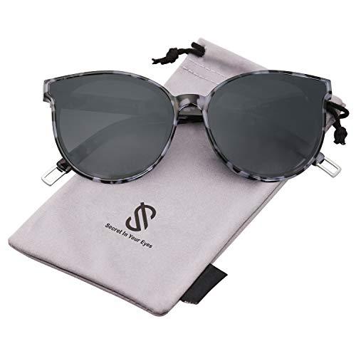 SOJOS Fashion Round Sunglasses for Women Men Oversized Vintage Shades covid 19 (Frame Womens Sunglasses coronavirus)