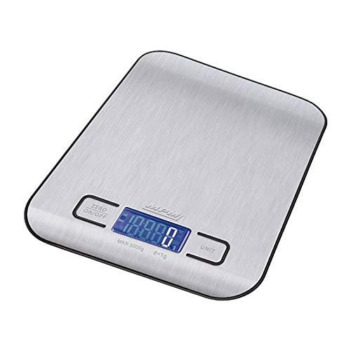 MPM Bilancia elettronica da cucina fino a 5 kg, libbre, once e kg, senza BPA MWK-02M
