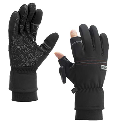 FRDM Free FIT Convertible Gloves Windproof Water Repellent Touchscreen Photography Hiking Fishing Cycling Outdoor Adventure, Unisex Sizing