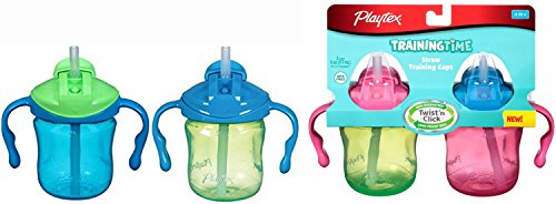 Playtex Training Time Straw Cups (4 Total Cups)