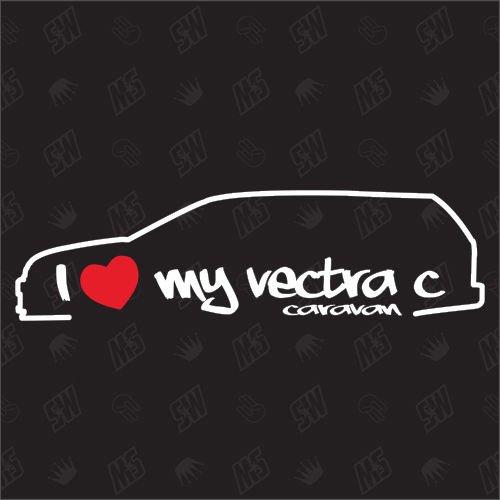 test Ich liebe meinen Opel Vectra C Caravan – Aufkleber, 02-08 Deutschland