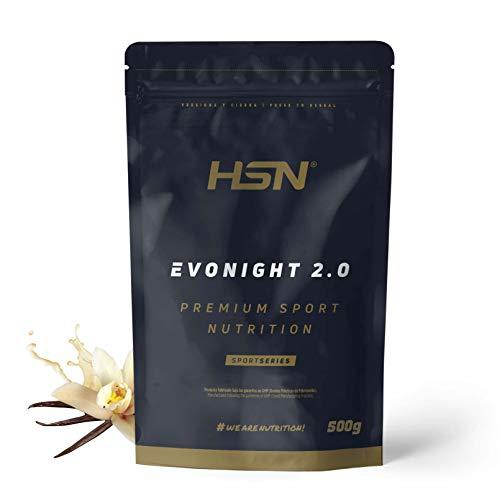 Mezcla de Proteínas Evonight 2.0 de HSN | Proteína para Antes de Dormir | Con Whey Protein + Proteína de Leche + Caseinato de Calcio + Whey Protein Isolate + Albúmina de Huevo | Sabor Vainilla, 500g