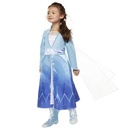 Disney Frozen 2 Elsa Dress Travel Adventure Costume Dress For Girls - Fits Sizes 4-6X, For Ages 3+