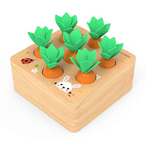 Holzspielzeug Montessori, Karotte Spielzeug, Sortierspiel Holz für Kinder, motorik Spielzeug Kleinkind, karottenernte Montessori, pädagogisches Spielzeug Holz