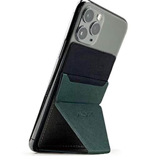 MOFT X 最薄クラス 折りたたみスタンド ホルダー スキミング防止カードケース iPhone、Androidスマートフォン (ミッドナイト・グリーン)