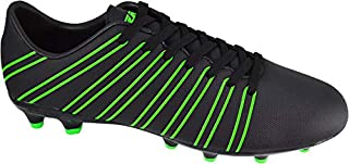 Vizari Madero Firm Ground Outdoor Soccer Shoe Athletic Shoe-Black/Green