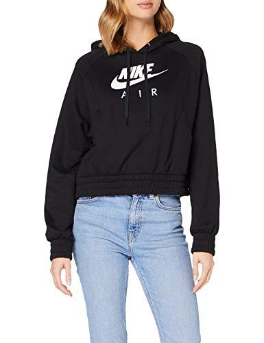 Nike Air Fleece Sweatshirt a Capuche Femme Sweatshirt a Capuche Femme Black/White FR : XL (Taille Fabricant : XL)