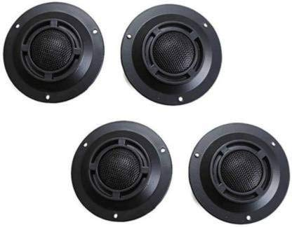 ERH INDIA Car Tweeter Doom Stereo Portable 4 pcs 120w Car Power Built-in Sturdy and Durable Crossovers Auto Loud Speakers Dome Tweeter Compact Size Tweeter Car Speaker (120 W)