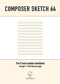 Composer sketch 64: A4 Muziekpapier met lege notenbalken