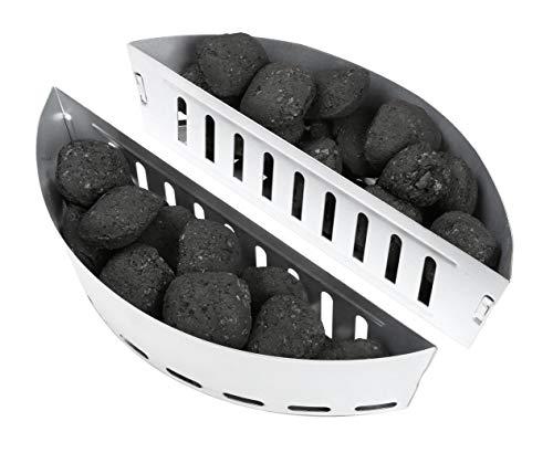 HeRo24 Lot de 2 paniers à charbon de bois pour barbecue sphérique à partir de Ø 47 cm