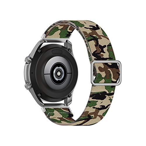 TopTen Correa de reloj de 22 mm compatible con Amazfit Pace/Stratos/Stratos 2/GTR 47 mm/GTR 2/GTR 2e correa, nailon suave transpirable tejido pulsera de repuesto (I)