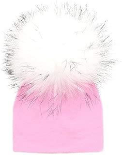 GZHILOVINGL 0-3 Months Baby Hats Newborn Infant Beanie with Real Fur Pom Pom Winter