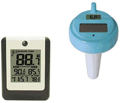 Ambient Weather Wireless 8-Channel Floating Pool and Spa Thermometer