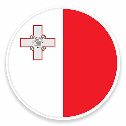 2 x 10cm Maltese Malta Flag Vinyl Sticker Laptop Car Luggage Travel Label #9518 (10cm Wide x 10cm High)