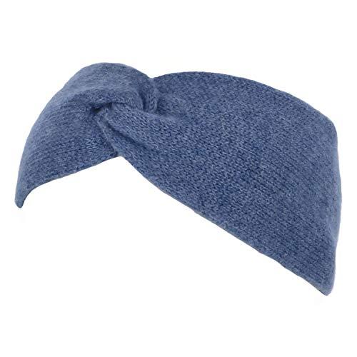 Seeberger Lasuna Kaschmir Stirnband Stirnwärmer Headband Ohrenschutz (One Size - blau)