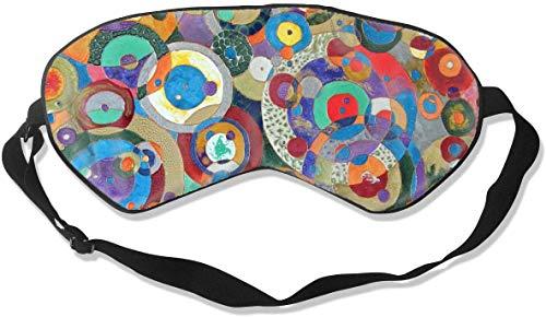 Natuurlijke Zijde verduistering Oog Masker, Zachte Verstelbare Blinddoek voor Mannen Vrouwen Kids Ooghoes, voor Slapen Reizen Nap Shift Werk Oogschaduw, Aquarel Neon-Regenval Glad Slaap Masker