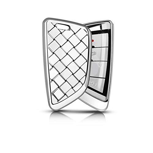 JHSOP Car Key Case Cover Crystal Styling Blade Shape, For BMW X1 X5 X6 F15 F16 F48 BMW 1/2 Series Plating Remote Controller Key Bag