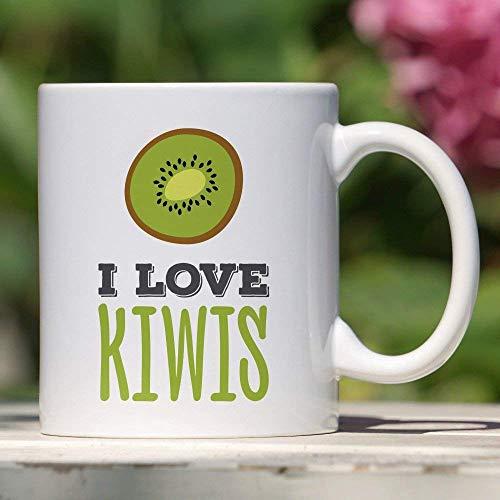 Kiwi-Becher Ich liebe Kiwis-Geschenk für vegetarische oder vegane Obst-Tasse Kiwifruit Einzigartige Tasse Süßes Kiwi-Geschenk