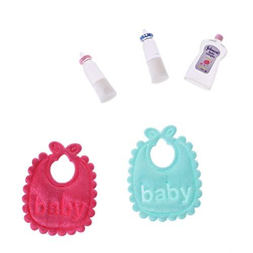 Gjyia Nuevo Conjunto Babero 1:12 Babero de Accesorios para muñecas en Miniatura. Ver Las Fotos One Size