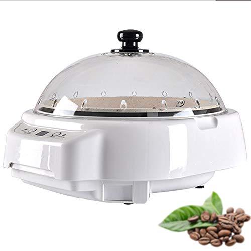 GWQDJ Elettrica Macchina di Tostatura di Chicchi di caffè, Temperatura Regolabile Tostatori di Caffè-220V/500W,Bianca