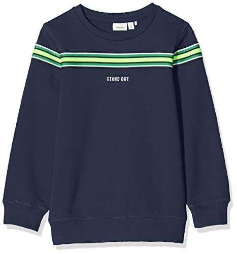 NAME IT Jungen NMMTONY LS SWEAT BRU Sweatshirts, Blau (Dark Sapphire), 110