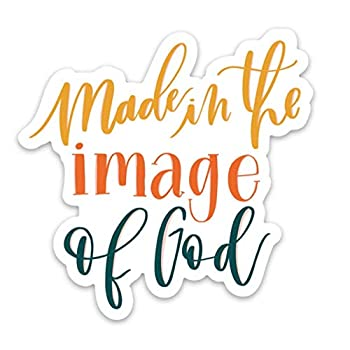 Made in the image of God   Christian stickers about faith Jesus scripture the Bible   Waterproof vinyl decals for your laptop hydro flask etc