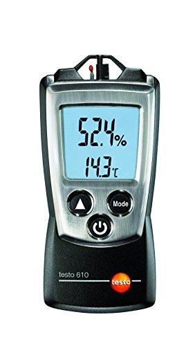 Testo 0560 0610 610 handliches Feuchte- / Temperatur-Messgerät, inklusive Schutzkappe, Kalibrier-Protokoll und Batterien