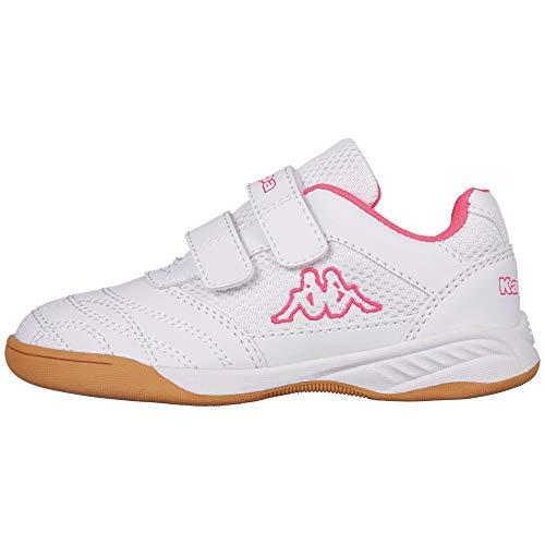 Kappa Damen Kickoff Low-Top, 1027 White/l`pink, 36 EU