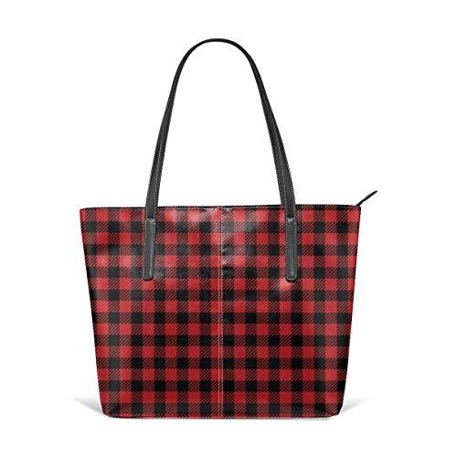 Buffalo Plaid Pattern Fashion Purses And Handbags For Women Satchel Shoulder Tote Bags