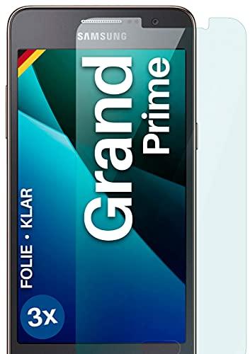 moex Klare Schutzfolie kompatibel mit Samsung Galaxy Grand Prime - Bildschirmfolie kristallklar, HD Bildschirmschutz, dünne Kratzfeste Folie, 3X Stück