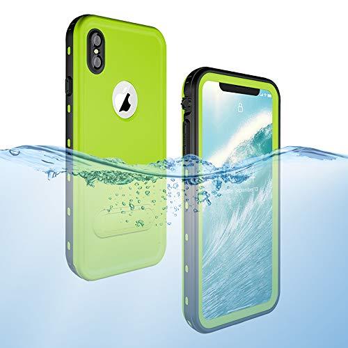iPhone Xs Max Waterproof Case, Dooge Shockproof Dirtproof Snowproof Rain Proof Heavy Duty Full Protection Rugged IP68 Certified Waterproof Case with Kickstand Screen Protector for Apple iPhone Xs Max