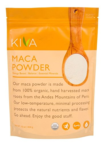 Kiva Organic Maca Powder - Non-GMO, RAW and Vegan (16-Ounce)
