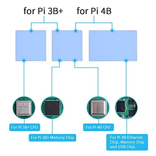 GeeekPi Raspberry Pi 4 Model B Custodia, Raspberry Pi Armor Case, Custodia in Alluminio con dissipatore di Calore passivo/Dissipatore Termico per Raspberry Pi 4B/3B+/3B