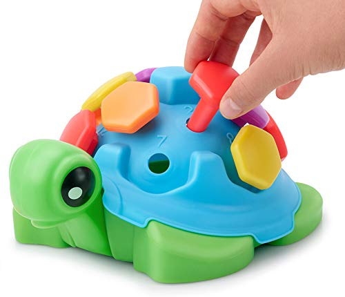 TOYPIX Fine Motor Turtle Toy for Toddlers 1-3 | Pegs Toys for Counting Skills Development | Montessori Learning Toys for Preschool | Best Gift for 2 Year Old Boys & Girls + 18 Months+ Baby & Toddler