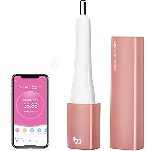 Femometer Vinca Basalthermometer für Eisprung & Zykluskontrolle, Digital Bluetooth Leises BBT Thermometer für NFP, Fertilitätsmonitor und Zykluscomputer mit Intelligentes APP (iOS & Android)