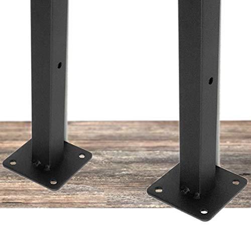 3world シンプル 棚受け 金具 ブラケット DIY ビス付 アンティーク調 インダストリアル ブラック SW1142四角型(2個)20cm
