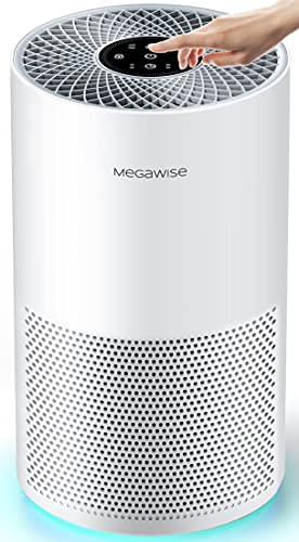 MEGAWISE Smart Air Purifier for Home Large Room up to 1008ft², H13 True HEPA Filter with Smart...