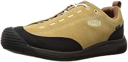 KEEN Men's Jasper 2 Waterproof Leather Climbing Approach Sneaker, Tan/Rawhide, 12