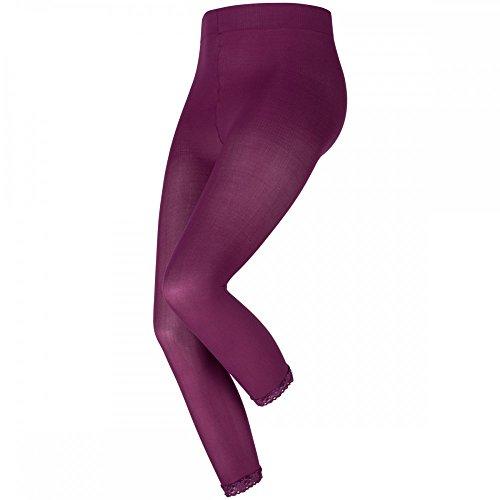 levée ® Legging Blickdicht 7/8 60DEN 1er mit Spitze, Größe:3XL, Farbe:Dunkelrosa