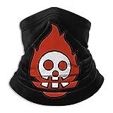 Face Mask Neck Gaiter Fire Force Burning Skull Multi Functional Balaclava Bandana for Dust Outdoor