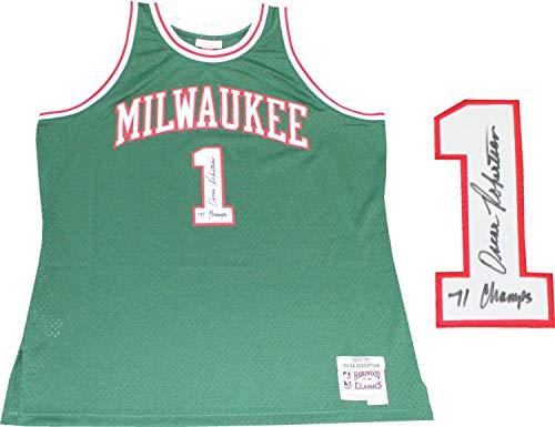 Oscar Robertson'71 Champs' Autographed Milwaukee Bucks Mitchell & Ness Jersey (PSA) - Autographed NBA Jerseys
