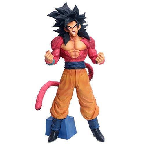CQ Animación Figura de Dragon Ball Z Super Saiyan 4 Goku Figura Estatua Colección Anime Regalos for los Aficionados de Dragon Ball 34cm Toys