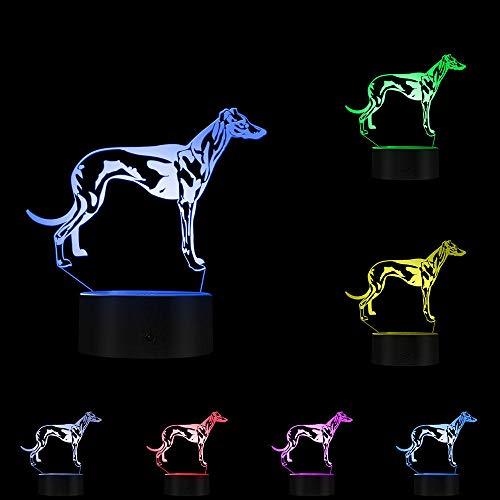 3D Visuelle Lampe LED Optische Täuschung Nachtlicht Kreative leuchtende LED Schreibtischlampe, Ungarn Vizsla Dog
