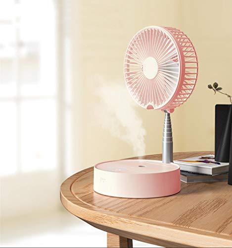 Duomya Handventilator hoher Luftdurchsatz Ventilator mit Luftbefeuchter und Nachtlicht mit Einer Basis Mini Faltbarer Tisch Tischkühler Handventilator für Picknick, Barbecue, Strand