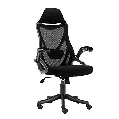 HEMFV Sedia da scrivania ergonomica Gaming Chair, casa da Gioco Sedia ergonomica Sedia, 90 ° di Rotazione del bracciolo Design, a 4 Stop di Sollevamento Supporto Lombare, Traspirante Posteriore della