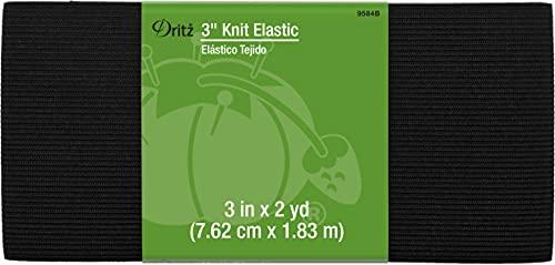 Dritz 3' Knit Elastic, Black