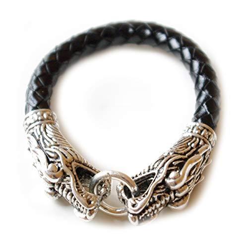 Armband schwarz Krafttier Drache - Yoga Esoterik Spiritualität Astrologie Energie